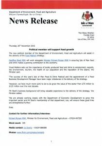 Press release GB