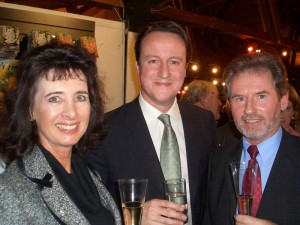Geoffrey and Suzie meet new Conservative leader David Cameron.