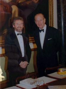 Geoffrey in conversation with Prince Philip