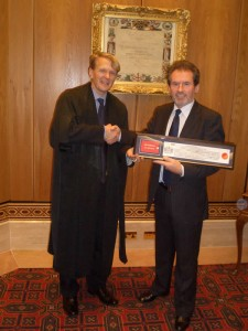 December 2007.  Geoffrey receives the Freedom of the City of London