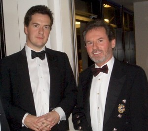 Geoffrey meets George Osborne, Shadow Chancellor of the Exchequer, October 2006.