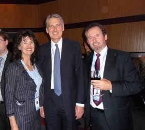 Geoffrey and Suzie with Philip Hammond Conservative Party Conference 2012